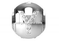 Swarovski, becharmed, litera Y cu cristale, 12mm - x1