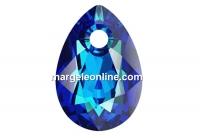 Swarovski, drop pendant, bermuda blue, 9mm - x2