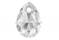 Swarovski, drop pendant, crystal, 9mm - x2