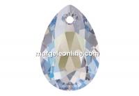 Swarovski, drop pendant, crystal shimmer, 9mm - x2