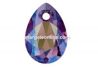 Swarovski, picatura pendant, amethyst shimmer, 11.5mm - x2