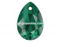 Swarovski, pandantiv picatura, emerald, 9mm - x2
