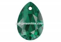 Swarovski, drop pendant, emerald 11.5mm - x2