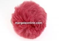Breloc pentru geanta, mini puf, roz vintage, 7cm - x1