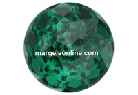 Swarovski dome, fancy chaton, emerald, 12mm - x1