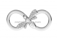 Link, infinity with bee, 925 silver, 16mm - x1