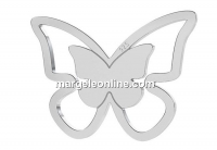 Link, butterfly, 925 silver, 16mm - x1