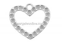 Baza pandantiv inima pt. cristale pp8-10, argint 925, 13.5mm - x1per