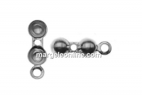 Clasp for bracelets or necklaces,  925 silver, 11.5x4mm - x2