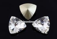 Swarovski, kaleidoscope triangle fancy rivoli, crystal, 6mm - x2