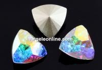 Swarovski, fancy rivoli kaleidoscope triangle, aurore boreale, 6mm - x2