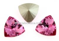 Swarovski, kaleidoscope triangle fancy rivoli, rose, 14mm - x1