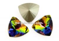 Swarovski, kaleidoscope triangle fancy rivoli, vitrail medium, 6mm - x2