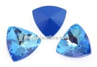 Swarovski, fancy rivoli kaleidoscope triangle, ocean DeLite, 14mm - x1