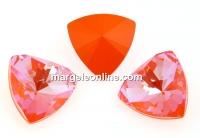 Swarovski, fancy kaleidoscope triangle, orange glow DeLite, 14mm - x1