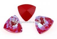 Swarovski, fancy kaleidoscope triangle, royal red DeLite, 14mm - x1