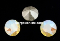 Swarovski, chaton ss29, white opal shimmer, 6mm - x4