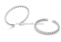 Ring twist, 925 silver, adjustable - x1