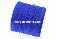 Bobina snur matase pentru bratari, albastru cobalt, 0.9mm - x90m