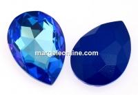 Swarovski, rivoli cabochon, royal blue delite, 30x20mm - x1