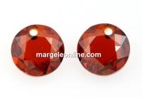 Swarovski, chaton pendant, red magma, 10mm - x1