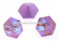 Swarovski, fancy Kaleidoscope hexagon, lavender delite, 9.4mm - x1