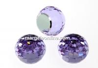 Swarovski, cabochon, violet comet argent, 8mm - x1