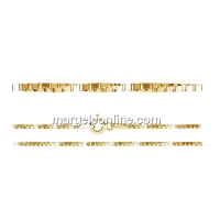 Chain twisted, gold-plated 925 silver, 45cm - x1