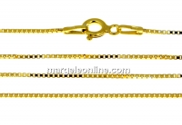 Chain, gold-plated 925 silver, box model, 42cm - x1