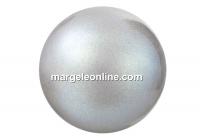 Preciosa pearl, pearlescent grey, 4mm - x100