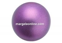 Preciosa pearl, light burgundy, 8mm - x50