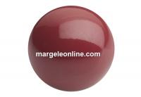 Preciosa pearl, cranberry, 12mm - x10
