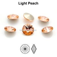 Preciosa rivoli, light peach, 8mm - x2