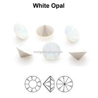 Preciosa chaton, white opal, 6mm - x4