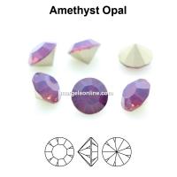 Preciosa chaton, amethyst opal, 8mm - x2
