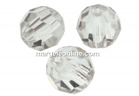 Preciosa, faceted round bead, crystal, 4mm - x10