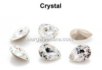 Preciosa, fancy baroque pear, crystal, 14x10mm - x1