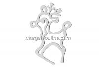 Pendant, Reindeer, 925 silver, 32mm  - x1
