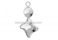 Pendant base, 925 silver, rivoli 6mm and fancy twister 10.5mm - x1