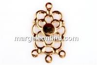 Baza chandelier floare 22x12.5mm - cabochon rotund 4mm - x2