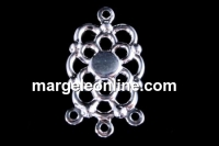 Baza chandelier floare 22x12.5mm - cabochon rotund 4mm - x2