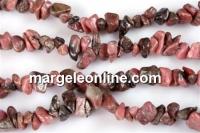 Rhodonite stone - chips - rodonit, 87cm