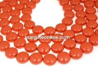Perle Swarovski disc, coral pearl, 10mm - x10