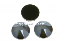 Swarovski rhinestone ss30, dark grey, 6mm - x4