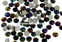 Swarovski rhinestone ss9, dark rainbow, 2.6mm - x20