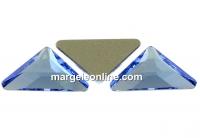 Swarovski, cabochon triangle gamma, light sapphire, 10mm - x1