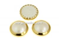 Swarovski, cabochon perla cristal hotfix gp, nacre, SS34 - x4