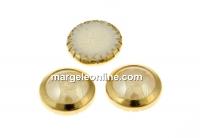 Swarovski, cabochon perla cristal hotfix gp, golden shadow, SS34 - x4