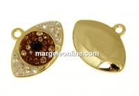Swarovski, pand. pave placat cu aur, 14mm - x1