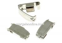 Incuietoare, argint 925 placat cu rodiu, 13.5mm - x1